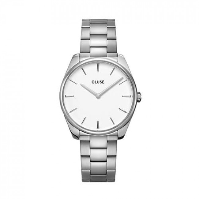 Hodinky CLUSE - Féroce CW0101212003  Steel White/Silver