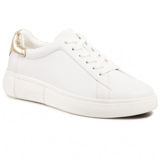 Sneakersy KATE SPADE - Lift K0023 Optic White/Pale Gold  Qpt