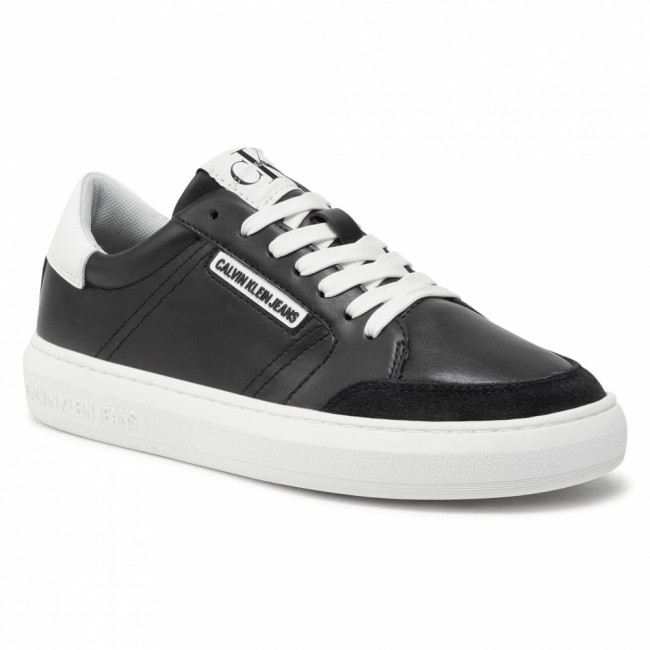 Sneakersy CALVIN KLEIN JEANS - Cupsole Sneaker Laceup Pu-Ny YW0YW00064 Black BDS