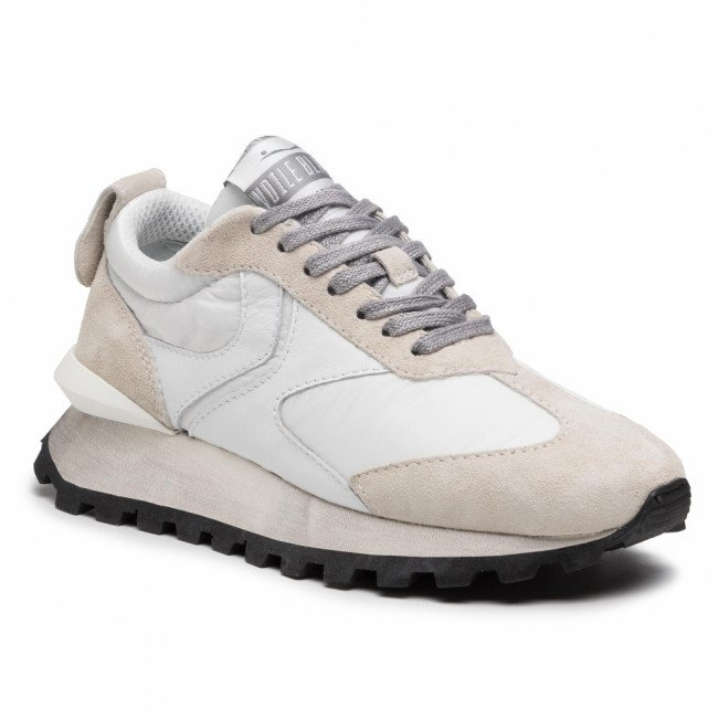 Sneakersy VOILE BLANCHE - Qwark Woman 0012015859.05.1B30 Ice/White