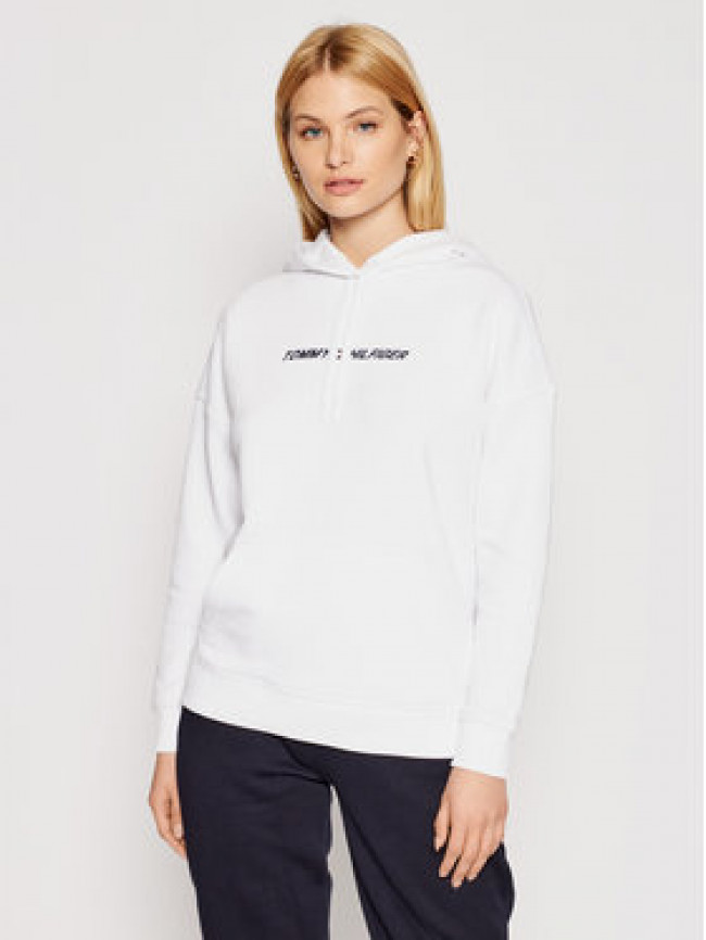 Tommy Hilfiger Mikina Graphic Hoodie Ls S10S100980 Biela Relaxed Fit