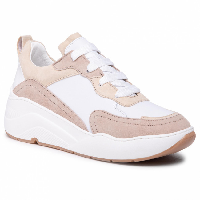 Sneakersy CYCLEUR DE LUXE - Jolien CDLW211157 White/Cold Pink/Taupe