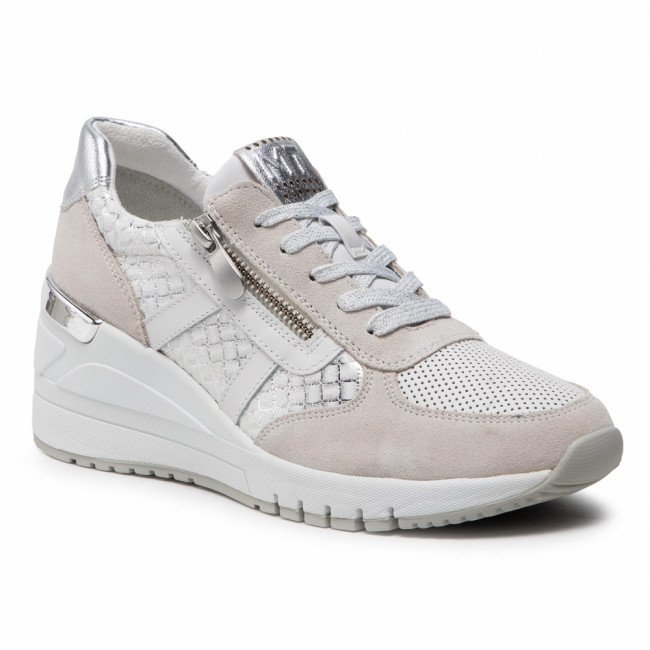 Sneakersy MARCO TOZZI - 2-23765-26 Offwhite Comb