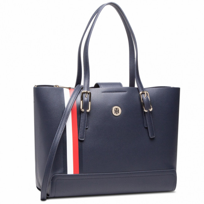 Kabelka TOMMY HILFIGER - Honey Med Tote Corp AW0AW09920 BLU