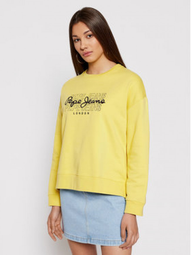 Pepe Jeans Mikina Bere PL581076 Žltá Relaxed Fit