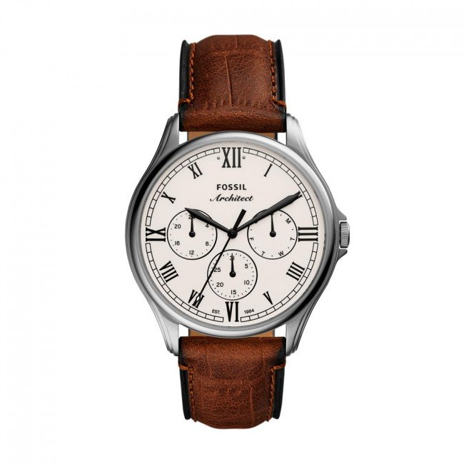 Hodinky FOSSIL - Arc-02 FS5800 Brown/Silver