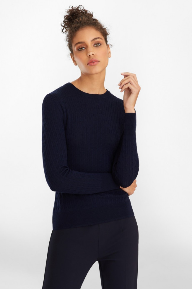 Sveter Brooks Brothers Cable-Knit Merino Wool Sweater