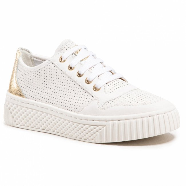 Sneakersy GEOX - D Licena A  D15HSA-085CF C1240 Off White/Gold