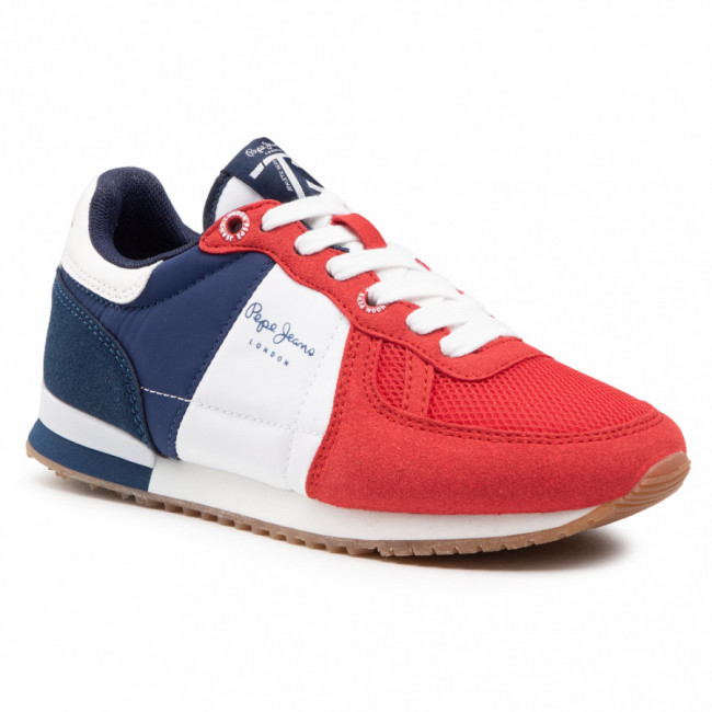 Sneakersy PEPE JEANS - Sydney Basic Boy PBS30486 Red 255