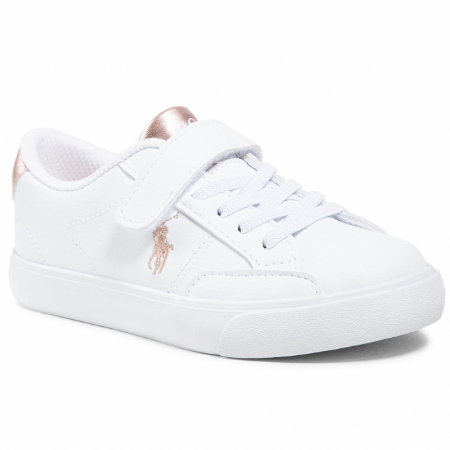 Sneakersy POLO RALPH LAUREN - Theron IV Ps RF102988 White/Rose Metal 1