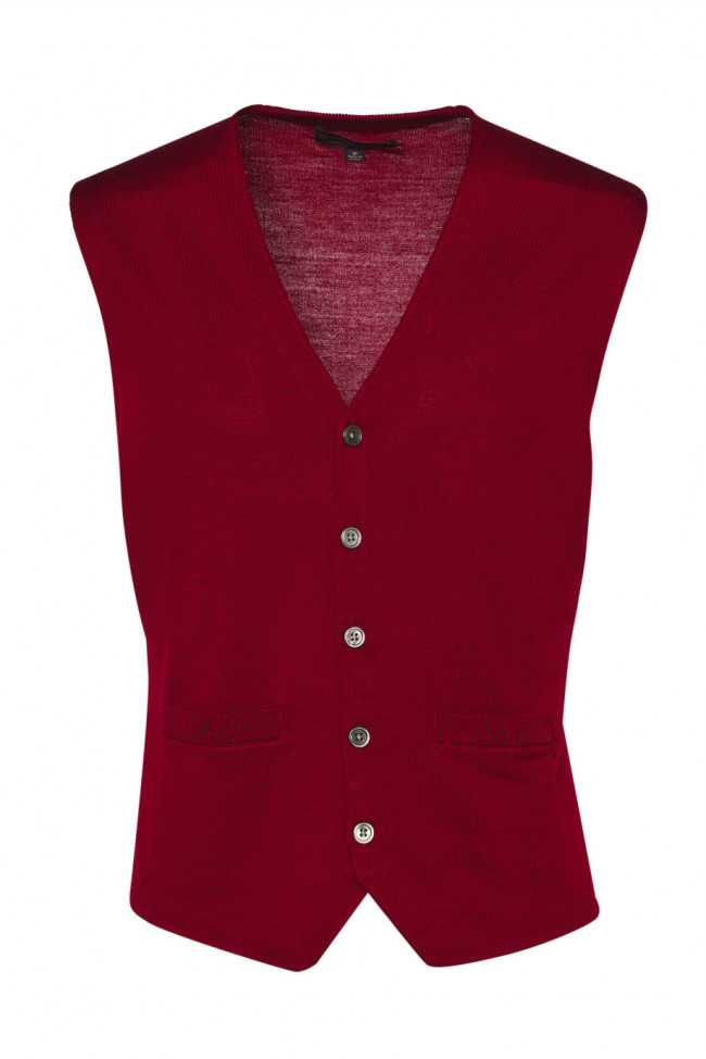 Sveter Brooks Brothers Swt Wl Easy Care Solid Waistcoat New Red