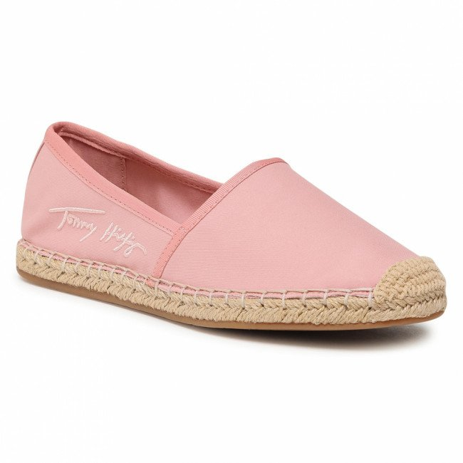 Espadrilky TOMMY HILFIGER - Th Signature Espardille FW0FW05649 Soothing Pink TQS