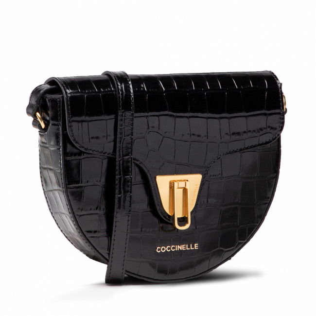 Kabelka COCCINELLE - IF3 Beat Croco Shiny So E1 IF3 15 03 01 Noir 001