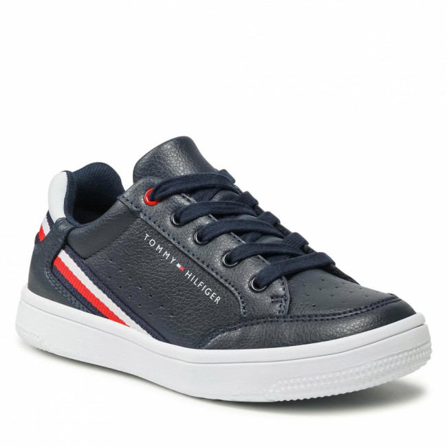 Sneakersy TOMMY HILFIGER - Low Cut Lace-Up Sneaker T3B4-31083-0621 M Blue/White X007