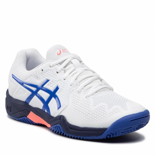 Topánky ASICS - Gel-Resolution 8 Clay Gs 1044A019 White/Lapis Lazuli Blue 107