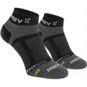 inov-8 race elite sock low 2p black/grey