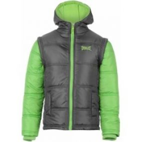 Everlast Contrasting Sleeve Jacket charcoal lime