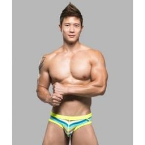 Andrew Christian NanoFit Fresh Bikini green StRipe