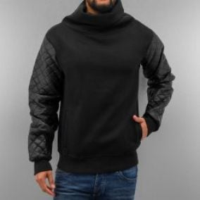 Just Rhyse Mock Neck Pullover Black