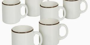 Set of jugs China crockery Biela Gaštanová 6 pcs -