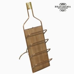 Metal wall wine hanger by Bravissima Kitchen