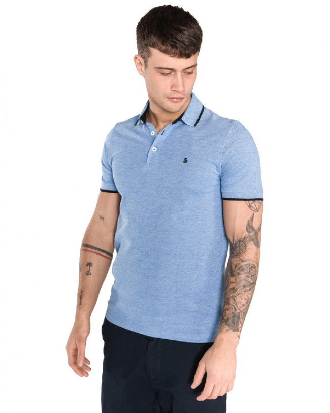 Jack & Jones Paulos Polo tričko Modrá