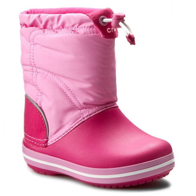 Snehule CROCS - Crocband Lodgepoint Boot K 203509 Candy Pink/Party Pink