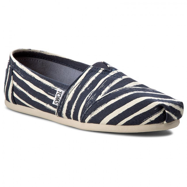 Poltopánky TOMS - Classic 10009721  Navy Painted Stripe