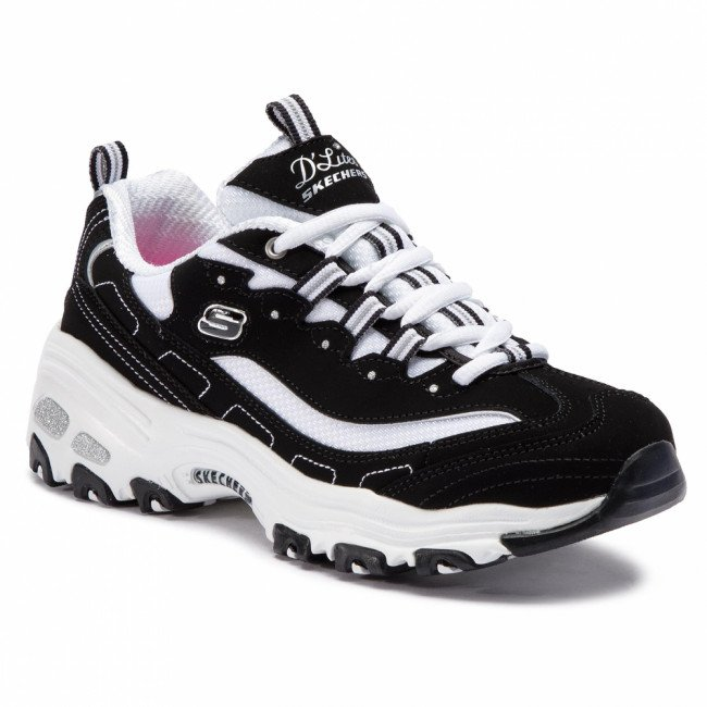 Sneakersy SKECHERS - D'lites Biggest Fan 11930/BKW Black/White