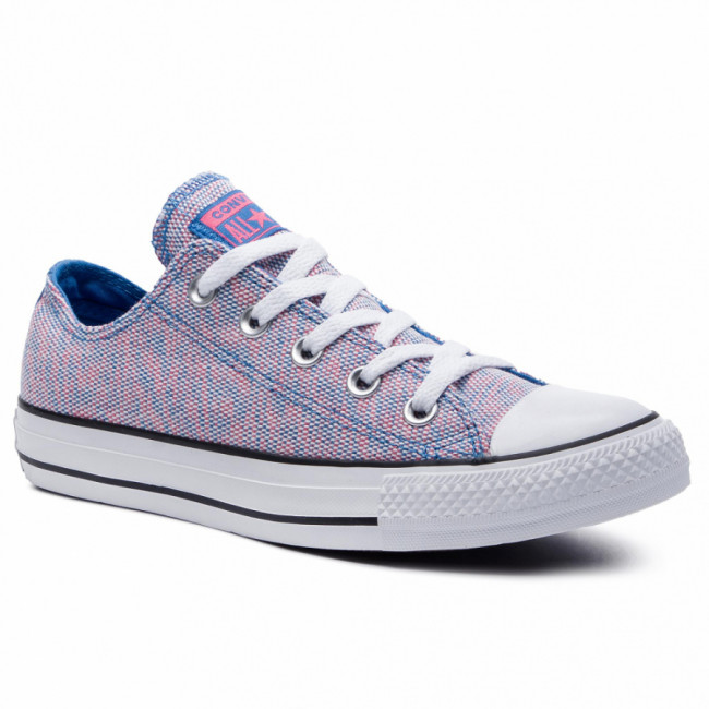 Tramky CONVERSE - Ctas Ox 164417C Totally Blue/Racer Pink/White