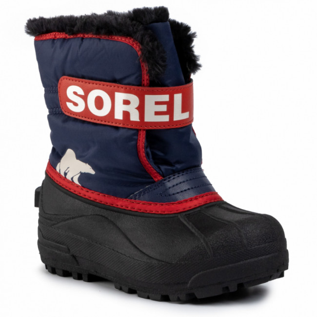 Snehule SOREL - Childrens Snow Commander NC1960 Noctural/Sail Red 591