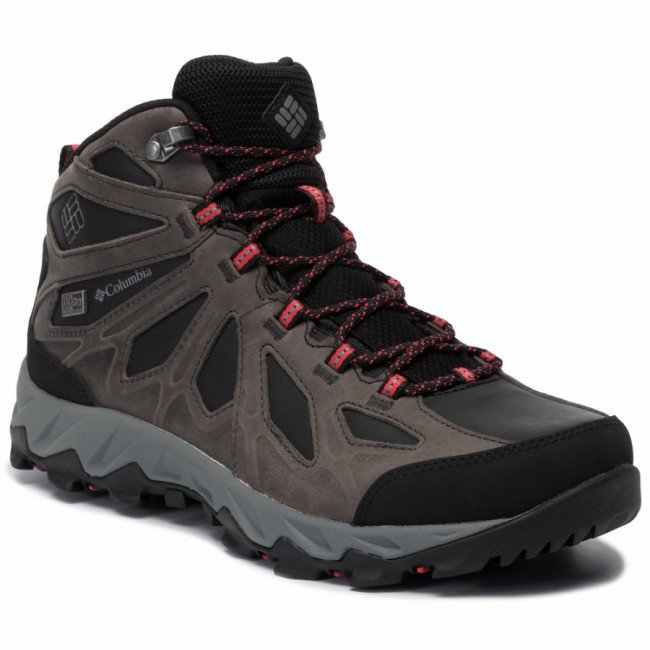 Trekingová obuv COLUMBIA - Lincoln Pass Mid Ltr Outdry YL5365 Black/Red Camellia 010