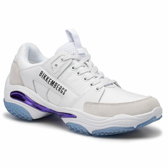 Sneakersy BIKKEMBERGS - Low Top Lace Up B4BKM0040 White