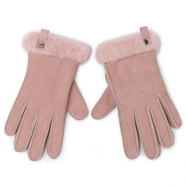 Rukavice UGG - W Shorty Glove W Leather Trim 17367  Pink Crystal