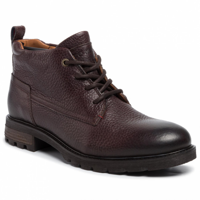 Outdoorová obuv TOMMY HILFIGER - Winter Shearling Lining Boot FM0FM02437  Coffee Bean 212