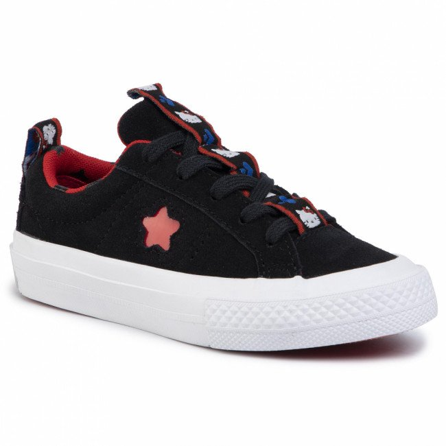 Tenisky CONVERSE - One Star Ox 363906C  Black/Fiery Red/White