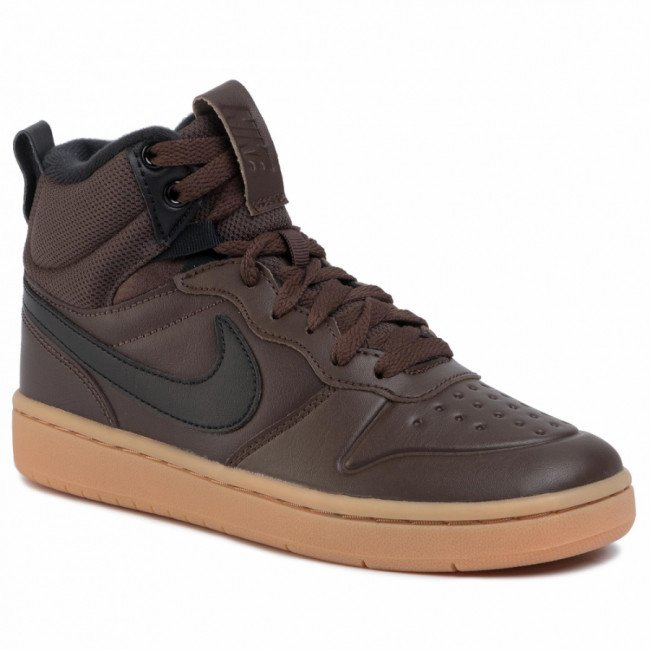 Topánky NIKE - Court Borough Mid 2 Boot (GS) BQ5440 200 Baroque Brown/Black