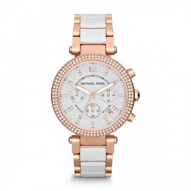 Hodinky MICHAEL KORS - Parker MK5774 Rose Gold/White/Rose Gold