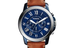Hodinky FOSSIL - Grant FS5151 Light Brown/Blue