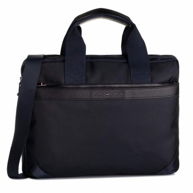 Taška na Laptop TOMMY HILFIGER - Nylon MIx Slim Computer Bag AM0AM05023 CJM