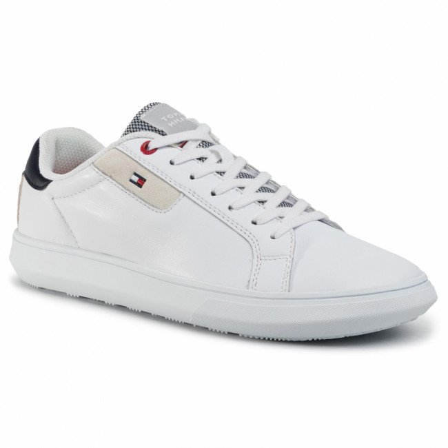 Sneakersy TOMMY HILFIGER - Essential Leather Cupsole FM0FM02581  White YBS