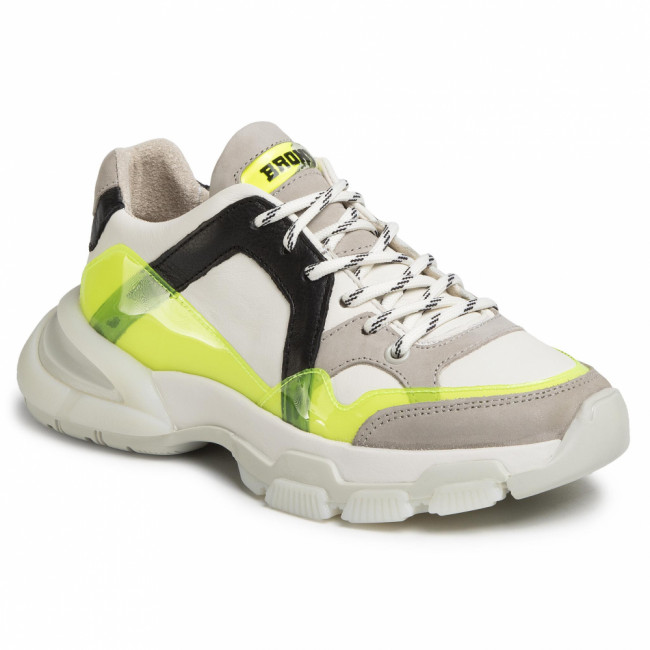 Sneakersy BRONX - 66295-BV Off White/N.Yellow/Black 3330