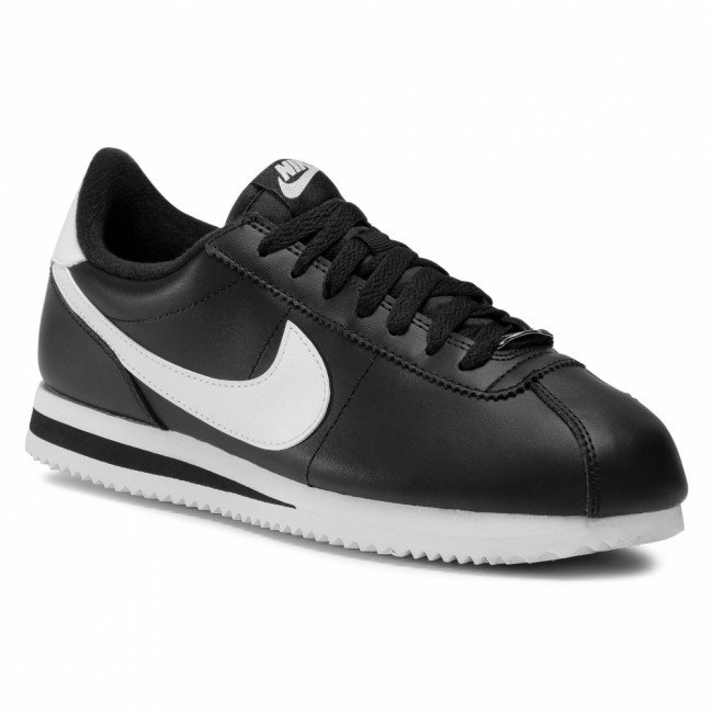 Topánky NIKE - Cortez Basic Leather 819719 012 Black/White/Metallic Silver