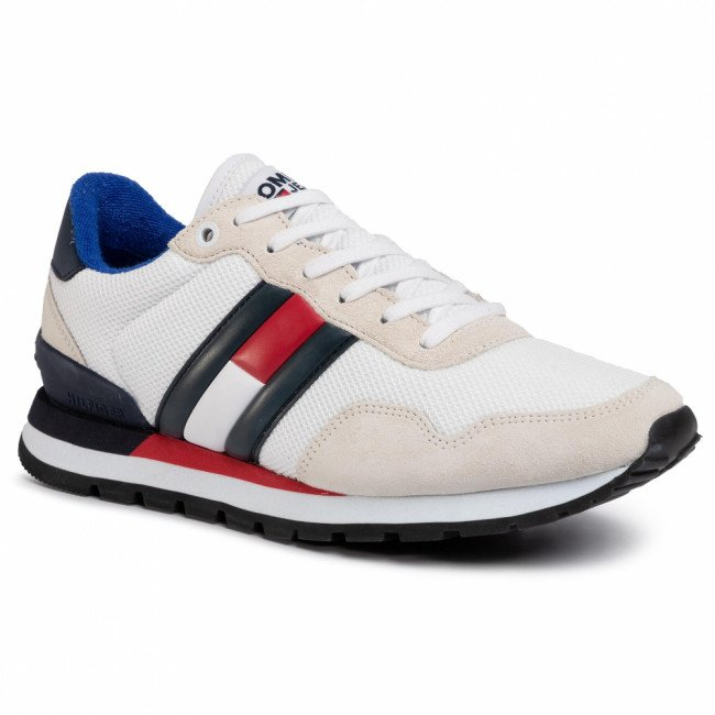 Sneakersy TOMMY JEANS - Casual Tommy Jeans Sneaker EM0EM00399  White YBS