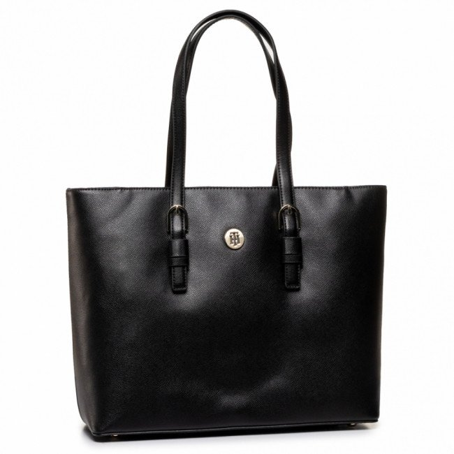 Kabelka TOMMY HILFIGER - Classic Saffiano Ew Tote AW0AW07668 BDS