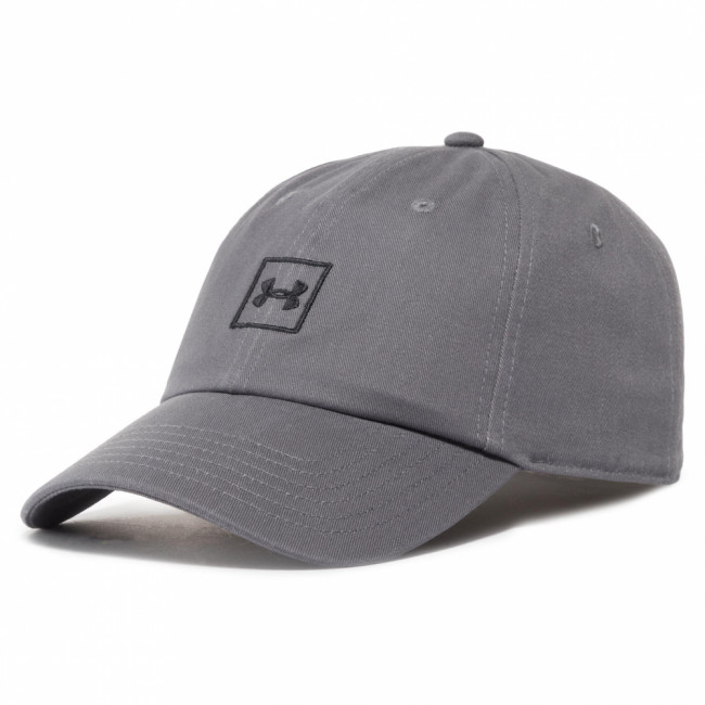 Šiltovka UNDER ARMOUR - Washed Cotton Cap 1327158-040 Sivá