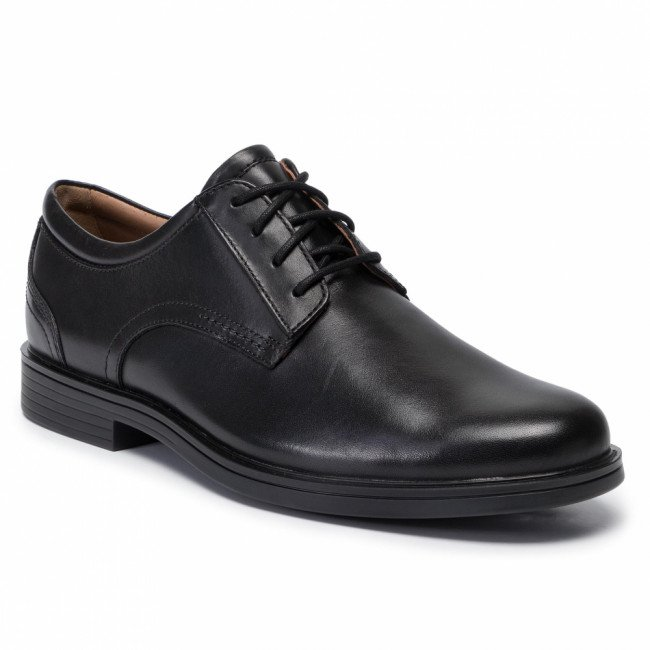 Poltopánky CLARKS - Un Aldric Lace 261326777  Black Leather