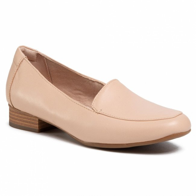 Poltopánky CLARKS - Juliet Lora 261400064 Blush Leather