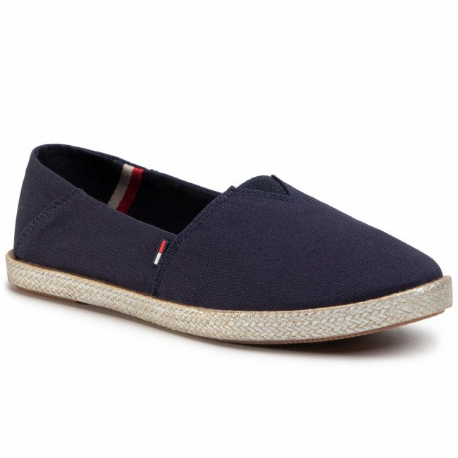 Espadrilky TOMMY JEANS - Metallic Flexible Espadrille EN0EN00879  Twilight Navy C87