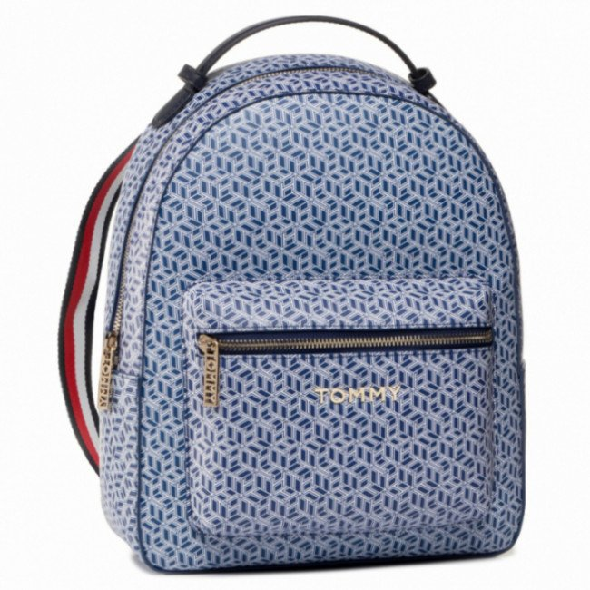 Ruksak TOMMY HILFIGER - Iconic Tommy Backpack Monogram AW0AW07926 C7H